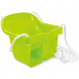 Leagan suspendabil pentru copii, cu franghii si inele de fixare, capacitate 25kg, verde