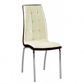 Scaun premium modern pentru bucatarie, living sau sufragerie, model dc2-092, piele ecologica, culoare bej/maro