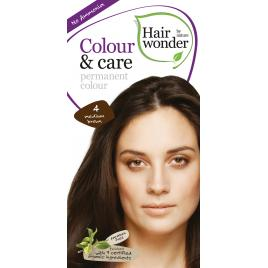 Vopsea par naturala, Colour & Care, 4 Medium Brown, Hairwonder