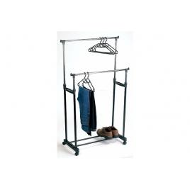 Suport metalic mobil pentru imbracaminte - inaltime 170 cm