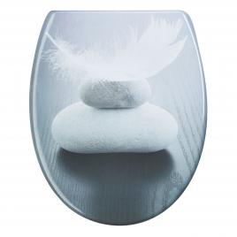 Capac WC Duroplast HARMONY, antibacterian, inchidere lenta, sistem prindere INOX-304 (universal) AWD02181391