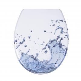Capac WC Duroplast SPLASH, antibacterian, inchidere lenta, sistem prindere INOX-304 (universal) AWD02181298