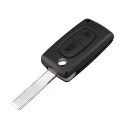 Carcasa cheie auto briceag cu 2 butoane ci-106 lamela cu canelura + suport baterie, compatibil citroen allcars