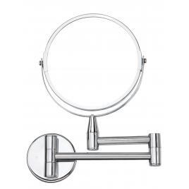Oglinda cosmetica cu lupa x 2, rama din otel cromat AWD02090705, 28 x 21 x 3.5 cm