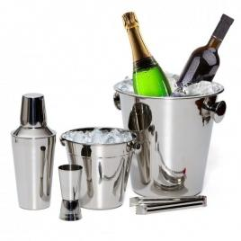 Set 5 piese pentru cocktail, frapiera si shaker din inox grunberg gr2431