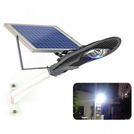Stalp iluminat exterior cu panou solar proiector led 30w si suport prindere cclamp cl-330