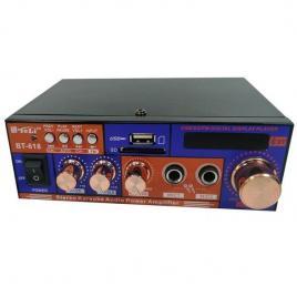 Amplificator audio cu bluetooth pentru karaoke bt-618 cu citire usb si microsd