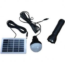 Kit solar cu lanterna led 3w si bec led smd cl-038