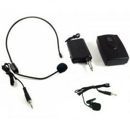 Microfon wireless lavaliera wg-101b, 30 m, led