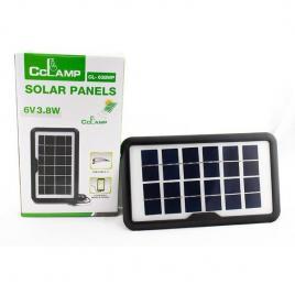Panou solar portabil pentru incarcare dispozitive cu intrare usb cl-638wp 6v 3.8w