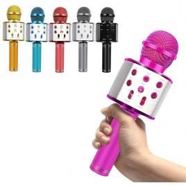 Microfon wireless pentru karaoke cu bluetooth si difuzor ws-858
