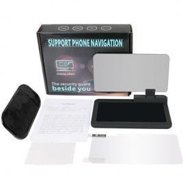 Suport auto telefon tip head up display pentru aplicatii gps