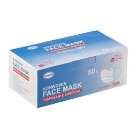Masca chirurgicala EN14683 tip IIR, protectie 98%,3 straturi, 3 pliuri, de unica folosinta, set 50 bucati