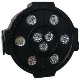 Proiector led par light 9 x led, cu bluetooth, stick usb si telecomanda