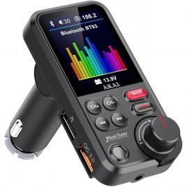 Modulator mp3 bluetooth sd incarcator telefon , microfon incorporat 12/24v akai