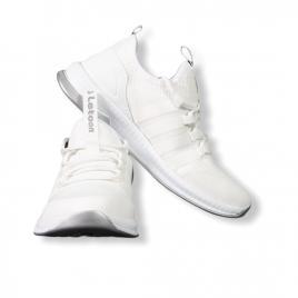 Sneakers Letoon Alb din material textil flexibil 2104