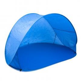 Cort pop-up semi-deschis mare pentru plaja cu protectie solara uv si impermeabil, albastru, 150x200cm