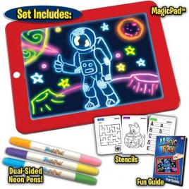 Tableta de desen interactiva cu 8 efecte luminoase, magic pad