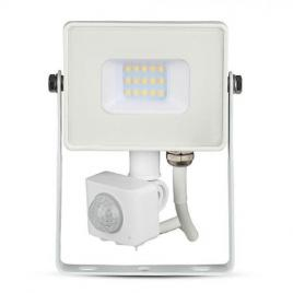 Reflector led smd 10w 3000k ip65 cu senzor miscare - alb