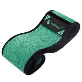 Banda elastica fitness pentru tonifiere din cauciuc, marimea l, 86 cm, verde