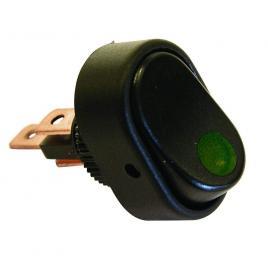 Intrerupator auto carpoint 12v 30a cu led verde , 31,20 x 20,00 mm kft auto