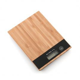 Cantar de bucatarie Basic Home, max 5 kg, ecran LCD, Bambus