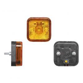 Lampa gabarit auto bestautovest 12/24v tip bec w5w, patrata, culoare portocaliu, 64x64x30mm, 1buc kft auto