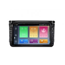 Navigatie Gps 8 inch Skoda Octavia 2 Fabia Superb 2 Roomster Yeti , Android , 2 GB RAM + 16 GB ROM, Internet , 4G , Aplicatii , Waze , Wi Fi