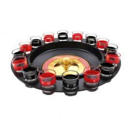 Joc de societate ruleta cu shoturi, 16 pahare, 32 x 32 x 8 cm
