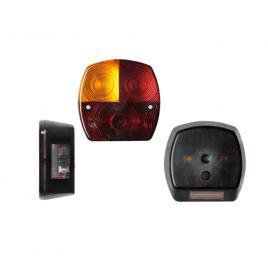 Lampa auto bestautovest pentru remorca partea stanga 12/24v 115x115x50mm cu lampa numar , 1 buc. kft auto