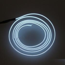 Fir cu lumina ambientala pentru masina, flexibil, 2m, neon ambiental alb
