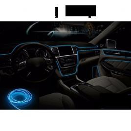 Fir cu lumina ambientala pentru masina, flexibil, 2m, neon ambiental albastru