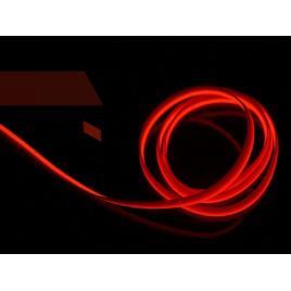 Fir cu lumina ambientala pentru masina, flexibil, 2m, neon ambiental rosu