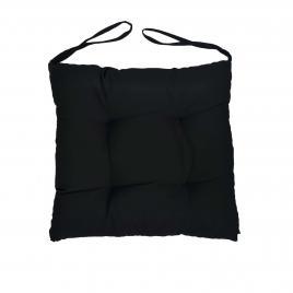 Perna scaun pentru curte sau gradina, dimensiuni 40x40cm, culoare negru