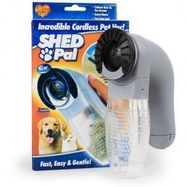 Perie electrica cu vacuum pentru curatat parul de animale shed pal