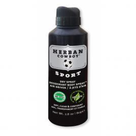Deodorant spray pentru barbati Sport cu  protectie maxima, HERBAN COWBOY, 80 gr