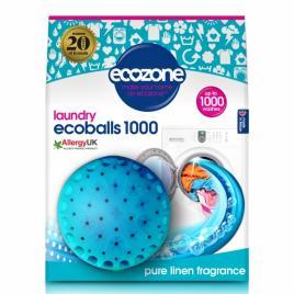Ecoballs  Bile eco pentru spalarea rufelor, cu parfum de in, Ecozone 1000 spalari