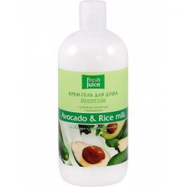 Gel de dus cremos cu extracte de avocado si orez , 500 ml, FRESH JUICE