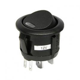 Intrerupator auto carpoint 12v 20a rotund diametru 20mm , on/off cu led kft auto