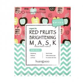 Masca iluminanta de tip servetel cu fructe rosii, pt tenul tern, Huangjisoo, 1 buc