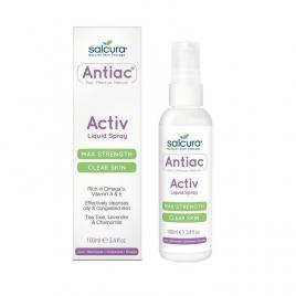 Spray Salcura Antiac, fata si corp, pentru curatarea pielii congestionate cu acnee, Omega, vitamina A, E, 100 ml