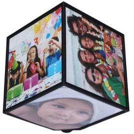 Cub foto rotativ 360 grade cu 6 poze 15 x 15 cm