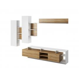 Ansamblu pentru living din pal melaminat, 3 piese Alva Wood-White