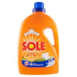 Detergent rufe lichid sole bianco splendente con bicarbonato 40 spalari 2ltr