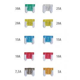 Set 10 sigurante auto automax plate mini ingropate , sigurante low profile 5-30a kft auto
