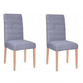 Set 2 huse scaun dining/bucatarie, din spandex, culoare albastru