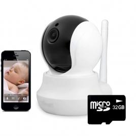 Baby monitor wireless jt160bw ,telefon, monitorizare video audio bebelusi, sunet bidirectional, push to talk, rotire