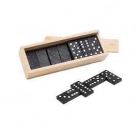 Joc domino in cutie de lemn, dalimag, 146 x 50 x 30 mm
