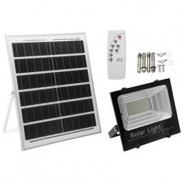 Kit solar, proiector led cu telecomanda si panou solar ip 66, 60w