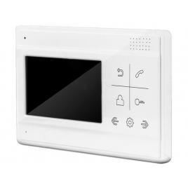 Kit videointerfon SAFER cu monitor de interior color si post exterior din aluminiu